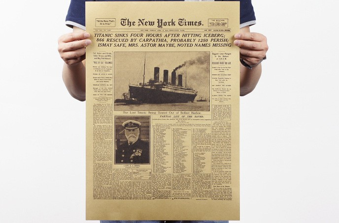 Sticker-Delicate-New-York-Times-Historic-Moment-font-b-Old-b-font-font-b-Newspapers-b