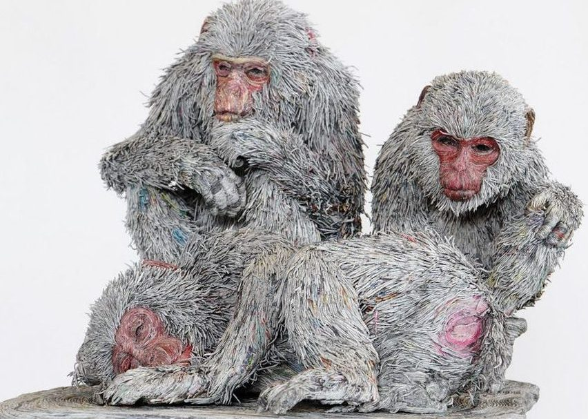 rolled-newspaper-animal-sculptures-paper-trails-chie-hitotsuyama-11