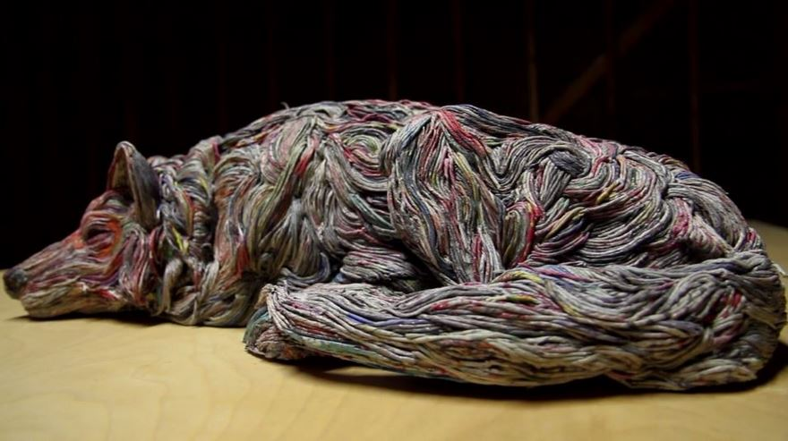 rolled-newspaper-animal-sculptures-paper-trails-chie-hitotsuyama-15