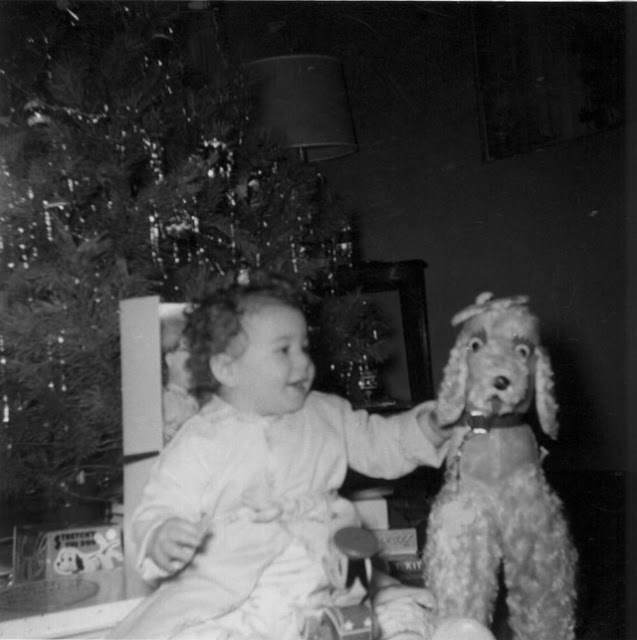 Lovely Vintage Photos of Babies with Their Christmas (4)
